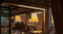 theodosi restaurant sunset view