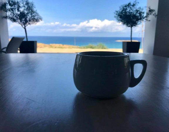morning coffee at alexis hotel